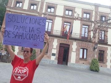 Protestas en Carabanchel por los desahucios de las familias
