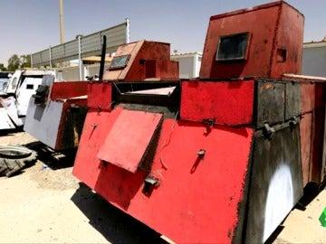 Uno de los tanques fabricados por los terroristas de Daesh