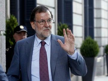 Mariano Rajoy en su visita a los soldados españoles en Letonia