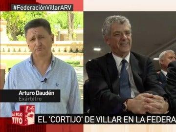 El exárbitro Arturo Daudén
