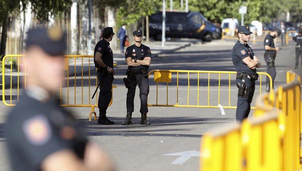 Despliegue policial en San Fernando de Henares