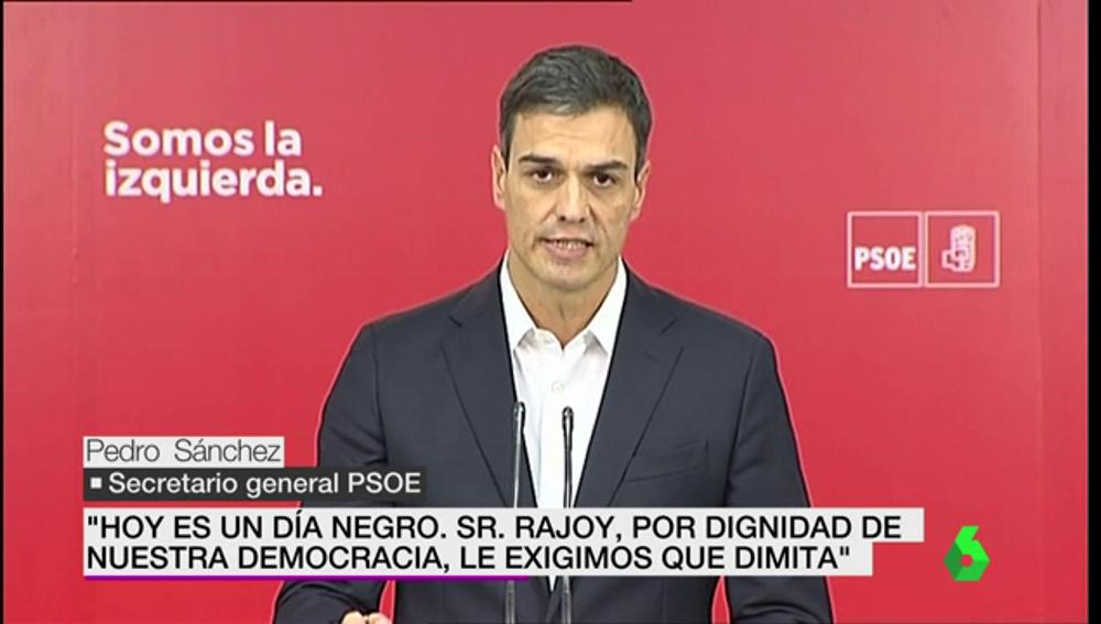 Pedro Sánchez, ante los medios
