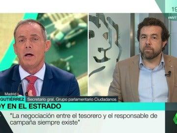 """Miguel Gutiérrez: """"El apoyo a Rajoy ha traído estabilidad a este país, pero no nos gusta ni Rajoy ni el PP"""""""