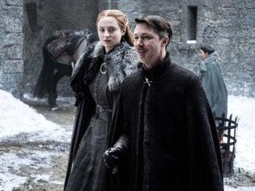 Sansa y Meñique en Invernalia