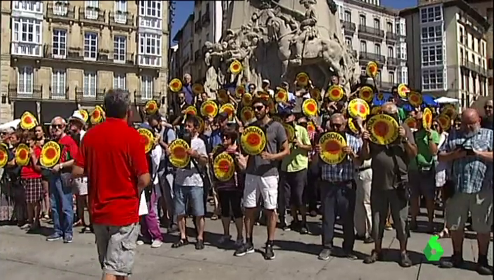 Protesta contra la reapertura de Garoña