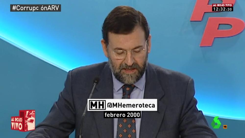 Así explicaba Mariano Rajoy la campaña del 2000 que el PP habría financiado de manera irregular