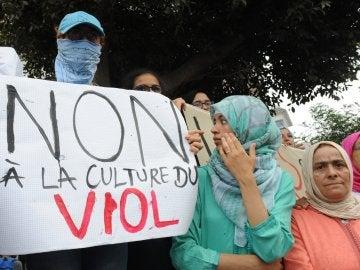 Imagen de archivo de una manifestación contra el abuso sexual en Casablanca