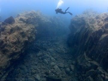 Zona de submarinismo de la playa de Malpique