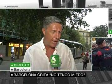 Xavier Albiol en la manifestación de Barcelona