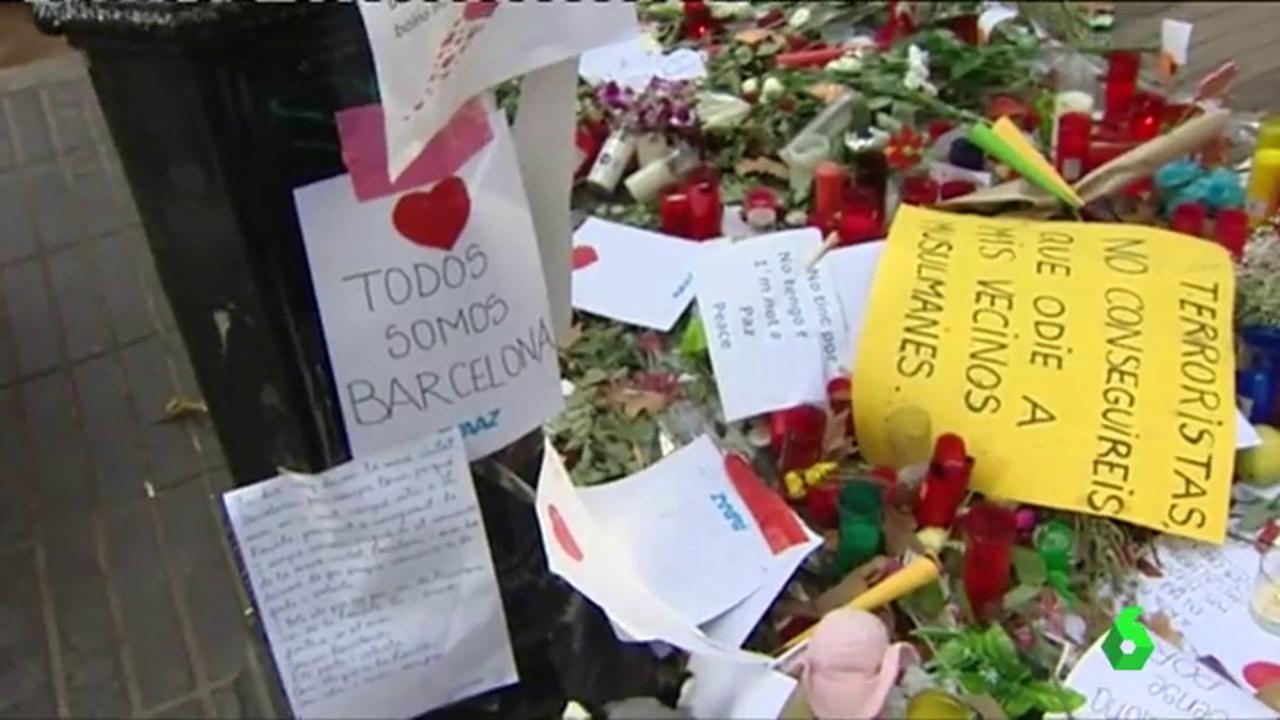 Homenajes a las víctimas de los atentados en Cataluña