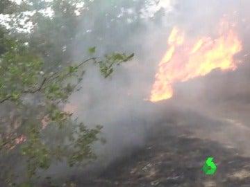 Activo un incendio en Lleida que obliga a desalojar varias masías