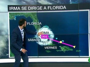 El ojo del huracán Irma dejará una calma de dos horas en Florida, aunque después volverá el fuerte temporal de viento