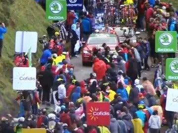 Contador, subiendo L'Angliru