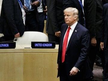 El presidente estadounidense, Donald J. Trump, en la sede de la ONU de Nueva York, EE.UU