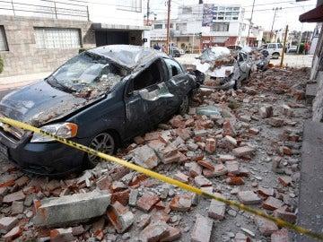 Derrumbes en la ciudad de Puebla, en México, tras el terremoto