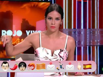 Pedroche explica lo que está pasando en Cataluña con emoticonos