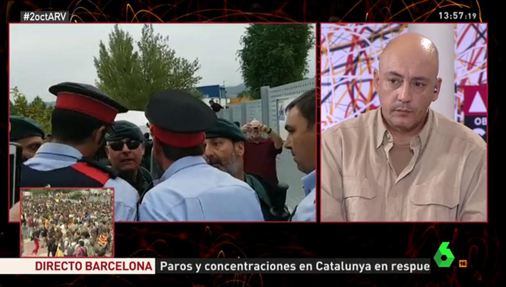 El portavoz del Sindicato de Policías de Cataluña, David Miquel