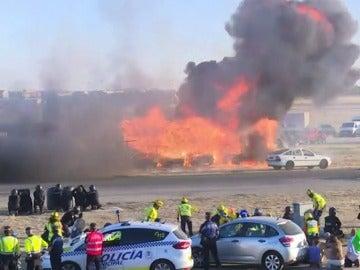 Espectacular simulacro de atentado en Madrid