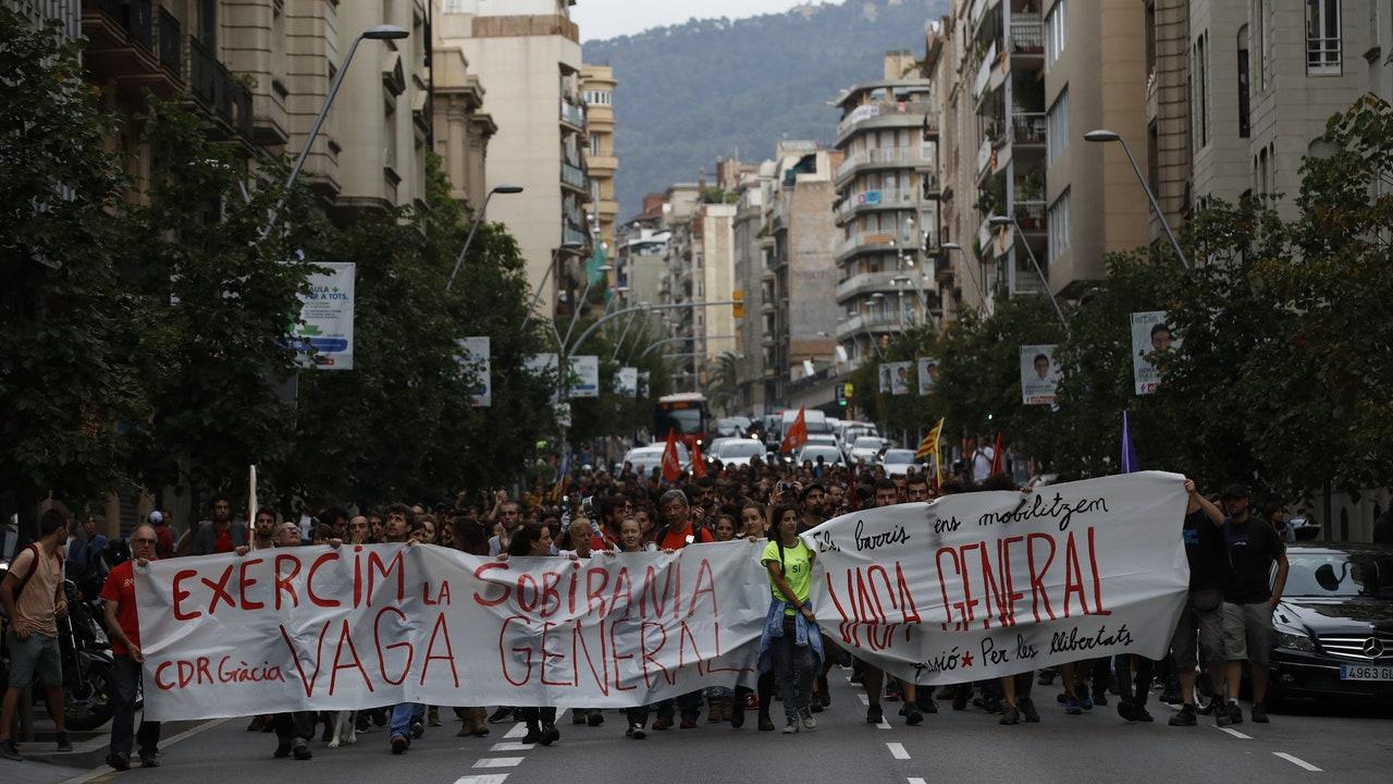 Arran en una manifestación en Barcelona