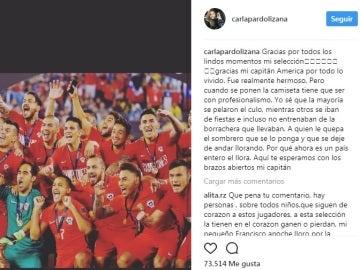 Carla Pardo critica que varios jugadores de la selección de Chile entrenaban borrachos