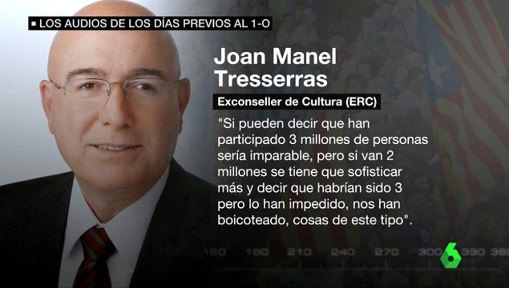 Joan Manel Tresserras, exconseller de Cultura (ERC)