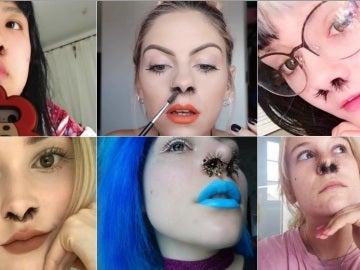 Imágenes publicadas en las redes sociales bajo el hashtag #nosehair