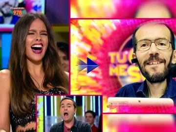 "Cristina Pedroche ""poseída"" por Pablo Echenique canta 'Chúpame la minga, Dominga'"