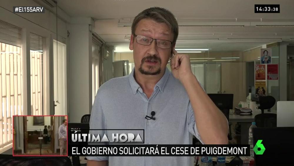 """Xavier Domènech: """"Es tan delirante como que Rajoy se ha proclamado presidente de Cataluña sin que lo hayan votado"""""""