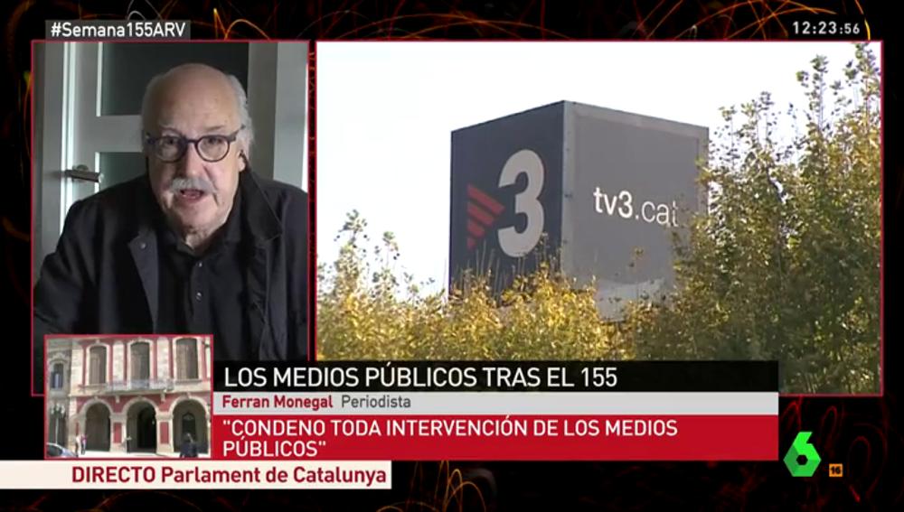 """Monegal, contra la intervención de TV3: """"Rajoy tiene experiencia, tiene intervenida TVE desde hace tiempo"""""""