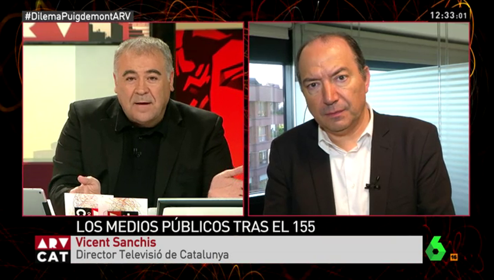 "Vicent Sanchis, director de Televisió de Catalunya: ""TV3 no tiene línea editorial"""