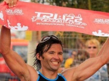 Víctor Teni, durante una competición