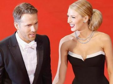 El actor Ryan Reynolds y su esposa, Blake Lively
