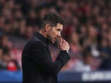 Simeone, durante el partido contra el Qarabag