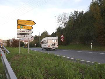 Vista de la carretera donde fue hallada la mujer