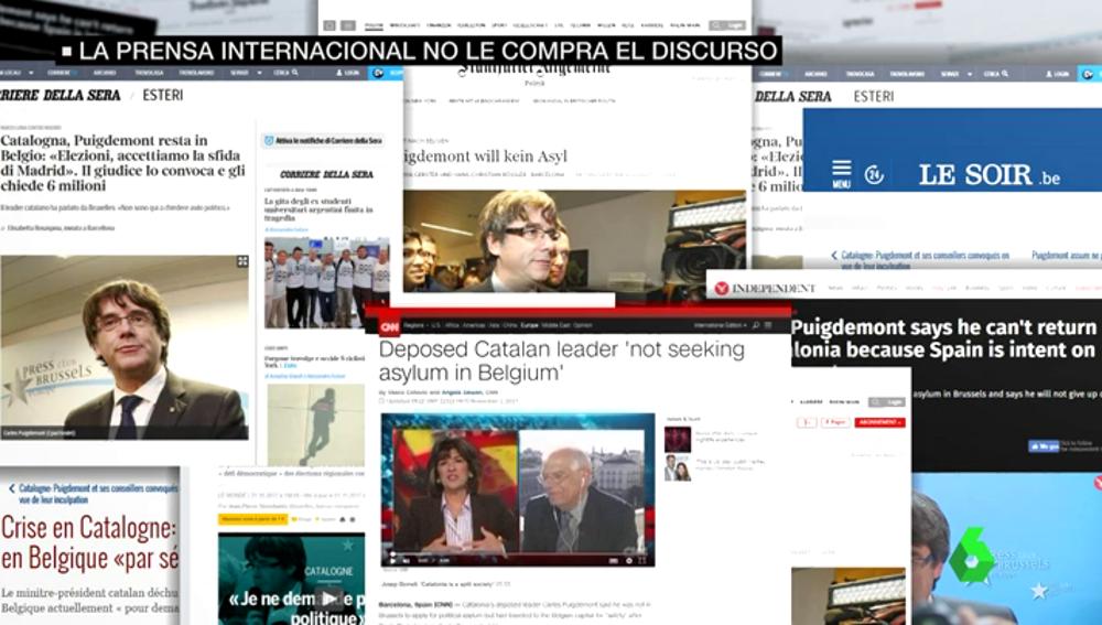 Portadas sobre Puigdemont en la prensa internacional