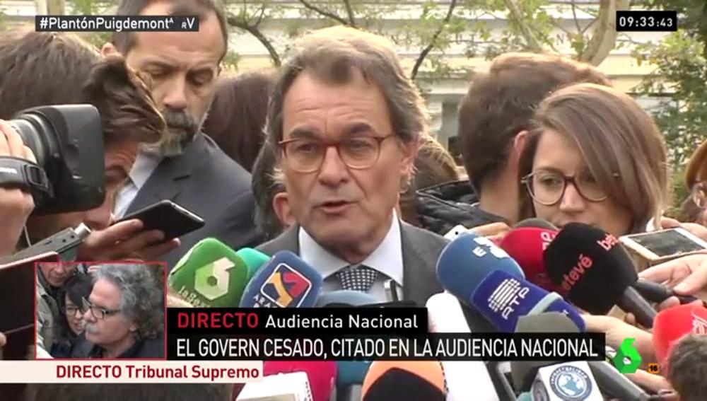 Artur Mas, a las puertas de la Audiencia Nacional