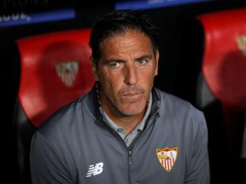 Eduardo Berizzo, en el banquillo del Sevilla