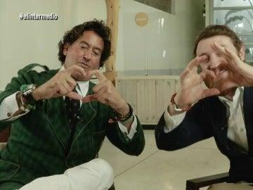 Álvaro de Marichalar con Manuel Burque