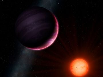 Recreación del planeta NGTS-1b