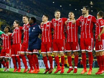 El Bayern celebra la victoria sobre el Dortmund