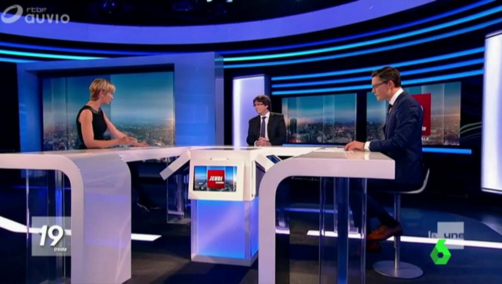 Entrevista a Carles Puigdemont en la televisión pública belga