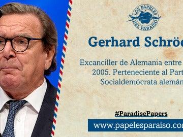 El excanciller alemán Gerhard Schröder