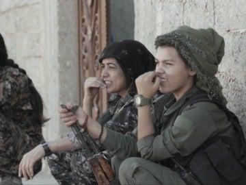 Combatientes contra Dáesh en Raqqa