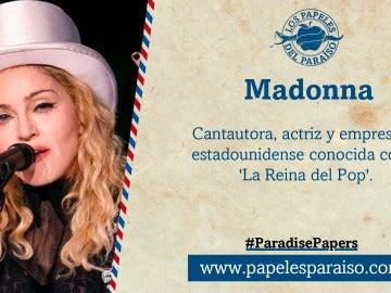 La cantante Madonna, la reina del pop