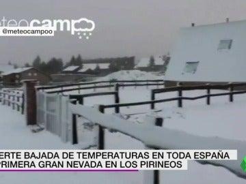 Fuerte bajada de temperaturas en toda España y primera gran nevada en Pirineos