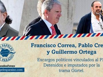 Francisco Correa, Pablo Crespo y Guillermo Ortega, cabecillas de la trama Gürtel