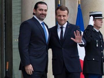 Reunión de Macron y Hariri