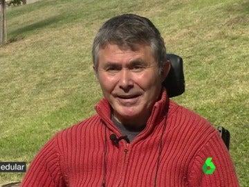 Benancio Palomo, lesionado medular
