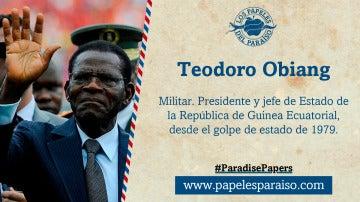 Teodoro Obiang, jefe de Estado de la República de Guinea Ecuatorial