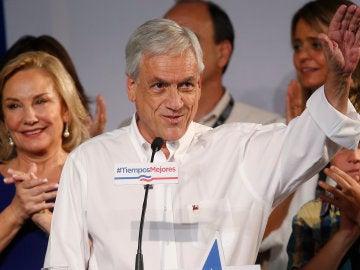 El candidato presidencial Sebastián Piñera